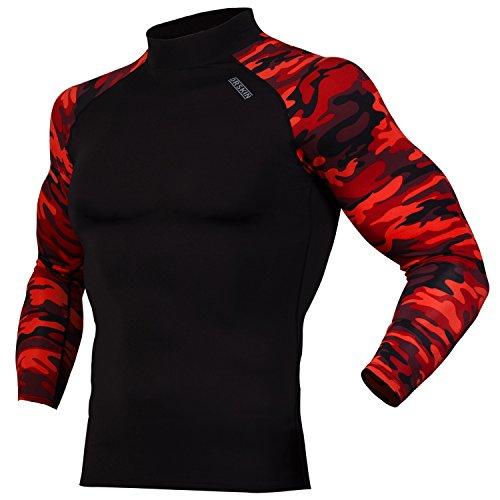 DRSKIN UV Sun Protection Long Sleeve Top Shirts Skins Tee Rash Guard Compression Base Layer UPF 50+ (RSB-MRE92, 3XL)