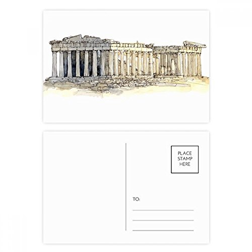 Acropolis of Athens of Greece Postcard Set Birthday Thanks Card Mailing Side 20pcs