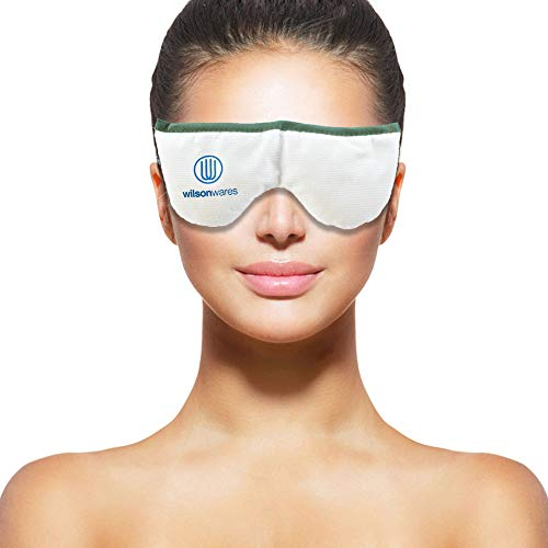 Dry Eye Mask by Wilson Wares - Provides Relief for Chronic Blepharitis, Meibomian Gland Dysfunction, Puffy Face & Stye in Eyes - Moist Heat Therapy Compress is Microwavable & Stays Warm ()