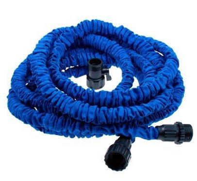 Genled garden hose 25ft heavy duty expanding water coil for Best flexible garden hose