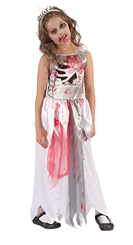 Bristol Novelty Bloody Zombie Queen Costume (L) Childs Age 7 - 9 Years