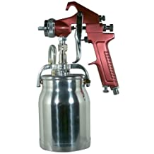 Astro Pneumatic 4008 Spray Gun with Cup, Red Handle, 1.8mm Nozzle