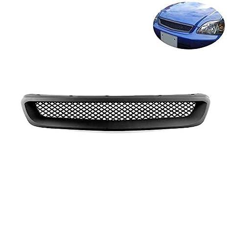 Eleganantamazing - Parrilla Delantera para Honda Civic JDM de Malla Negra Tipo R: Amazon.es: Coche y moto