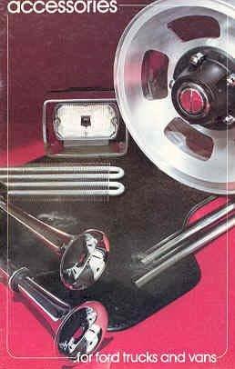 1981 Ford Truck Bronco Van Accessories Sales (Ford Bronco Brochure)