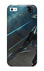 Awesome Design Spaceship Hard Case Cover For Iphone 5c Sending Screen Protector in Free
