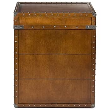 Amazing Southern Enterprises Steamer Trunk End Table
