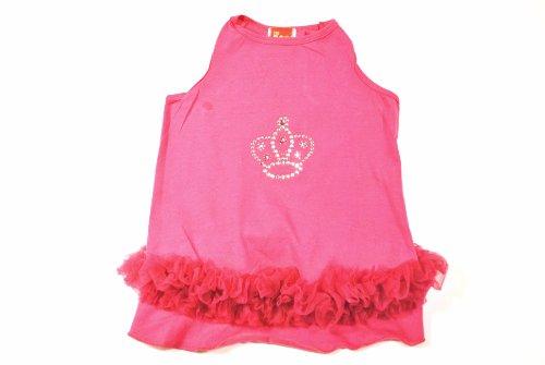 The Dog Squad Tutu Pet Dress, Small, Princess Crown Bubble Gum