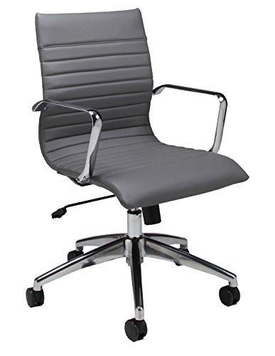 Mid Back Ergonomic Chrome Frame (Impacterra Janette Office Chair, Gray)