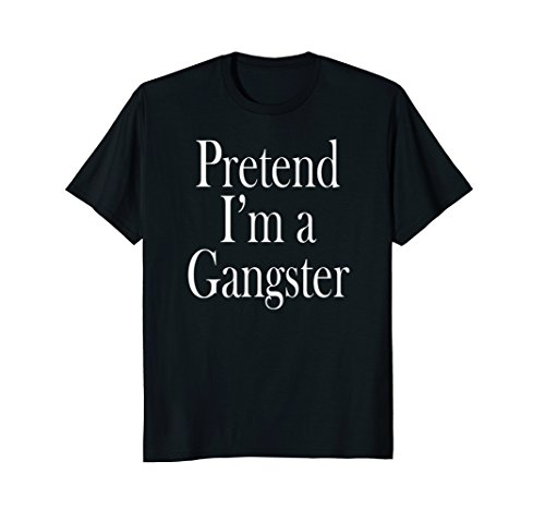 Last Costumes Minute Men (Mens Gangster Costume T-Shirt for the Last Minute Party XL)