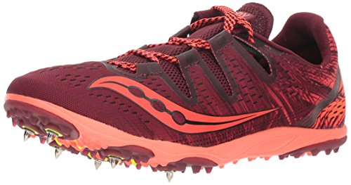 Saucony Women's Carrera XC 3 Track Shoe, Berry/Vizi Red, 6.5 M US