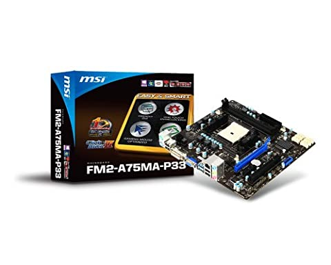 MSI Computer Corp. Socket FM2/AMD A75/DDR3/ SATA3 and USB3.0/A and GbE/MicroATX Motherboard (Msi A10)