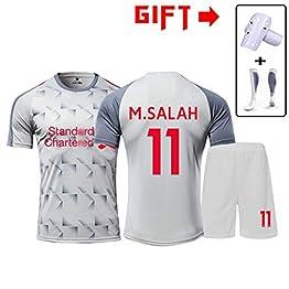 HS-HWH316 Liverpool Football Club # 11 Salah 2019 Football Résistance Suitwrinkle Respirant Formation Porter des Vêtements De Sport Adulte Et Enfants Football Garçon T-Shirt,3XS130~145CM