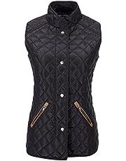Bellivera Lady Quilted Sleeveless Waistcoat Vest Jacket