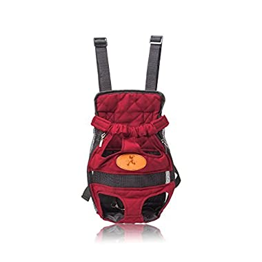 Pettom Front Cat Dog Backpack Travel Bag Carrier Free Your Hands Lightweight and Safe Medium