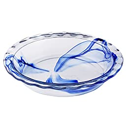 Pyrex Watercolor Collection Easy Grab Pie Plate - 2 Pack, , Blue Lagoon