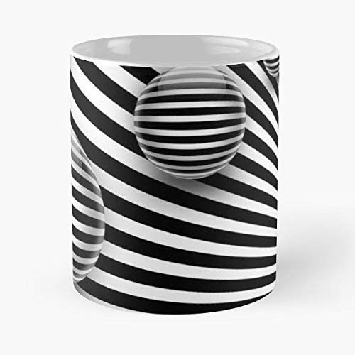 Fantasy Imagination Lines - Ceramic 11 Oz Coffee Mugs To Form Areas White Black And Modern - Best Independence Day Gift