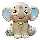 CHOOLD Cute Cartoon Elephant Piggy Bank Coin Bank Saving Pot Money Box For Kids Birthday Gift Nursery Decor(blue)
