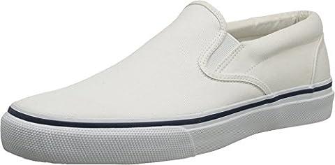 Sperry Top-Sider Men's Striper Slip-On Boat Shoe,White,11.5 M US