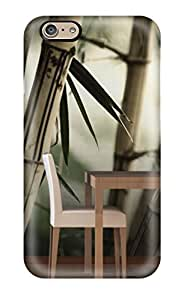 New Fashion Premium Tpu Case Cover For Iphone 6 - Attractive Bamboo Tree Wall Mural Room
