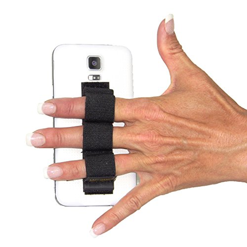LAZY-HANDS 3-Loop Phone Grip - FITS MOST - BLACK