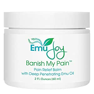 Banish My Pain Concentrated Pain Relief Rub for Joint Pain and Sore Muscles