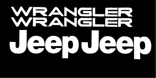 Set of Jeep Wrangler Replacement Vinyl Stickers Decals YJ TJ pick your color (WHITE GLOSS)