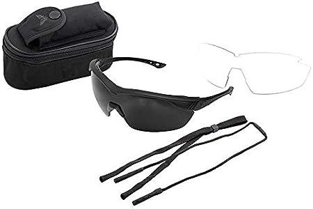 Edge Eyewear HO2K-1 Overlord 2 Lenses Kit Soft-Touch Matte Black Frame//Clear Vapor Shield G-15 Vapor Shield Lenses