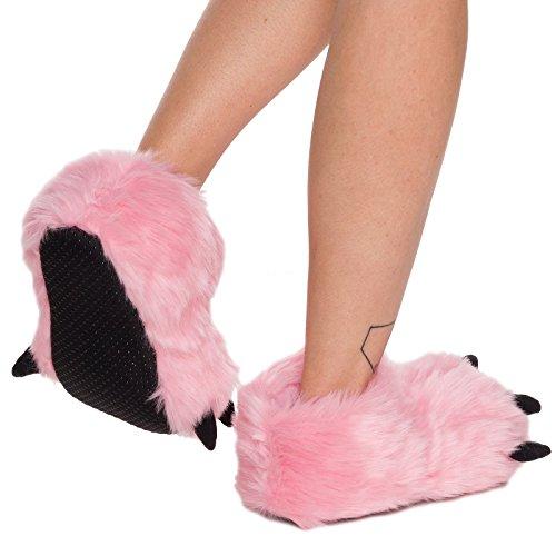 Pantofole Dargento Con Zampa Dorso Zampa Rosa