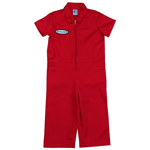 Born to Love Knuckleheads - Infant and Baby Boy Grease Monkey Coveralls Red 18-24 Months
