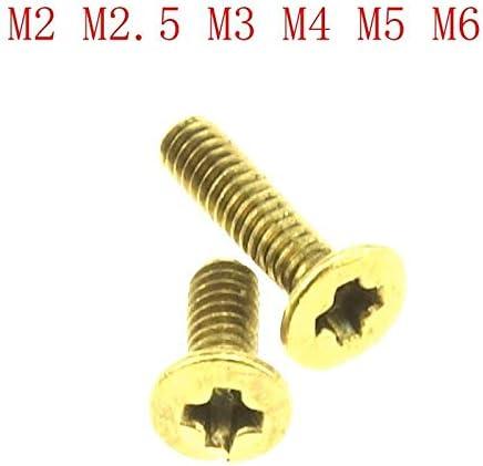 Brass Pan Head Round Head Phillips Screws Machine Screws Bolts M2//M2.5//M3//M4