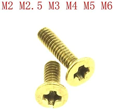 tama/ño : M2.5 X 8 20pcs Lat/ón tornillos avellanados de cabeza plana//Tornillos M2.5 M2 M3 M4 M5 M6