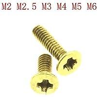 Latón tornillos avellanados de cabeza plana/Tornillos M2.5 M2