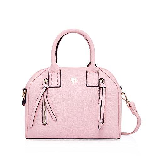 Barbie Classic Series Pure-color Square-shape Women Cross-body Bag&Handbag (black 1)