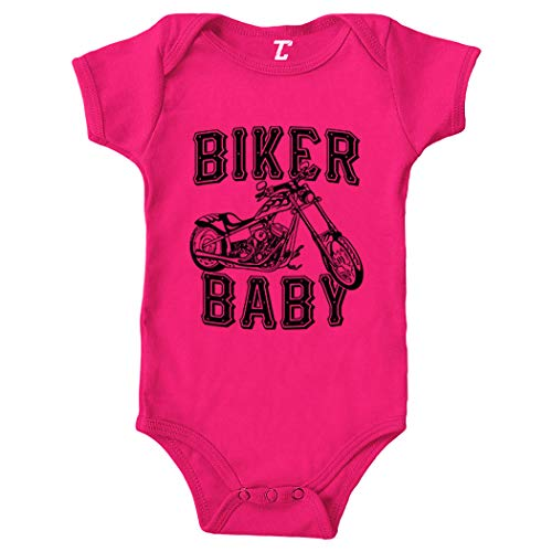 Biker Baby - Tough Gritty Bodysuit (Pink, 6 Months) (Best Biker Gang Names)