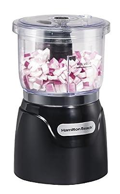 Hamilton Beach Stack & Press 3 Cup Chopper (72850), Black