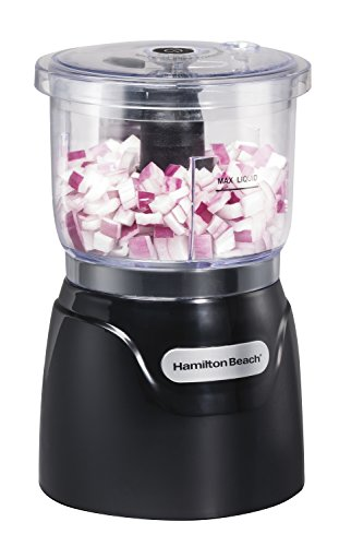 Hamilton Beach Stack & Press 3 Cup Chopper (72850), Black