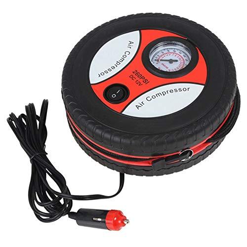 MiZOELEC 260 PSI Car Pump Tire Inflator Tyre Air Compressor Portable Automotive Tool Black Car Mini Air Pump