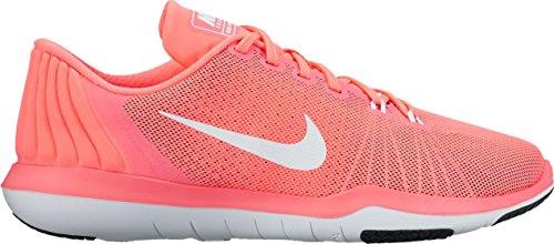 Nike Kvinder Flex Øverste Tr 5 Træning Schuh 852.467 Udfordring Rød / Hvid Hhd1ly7