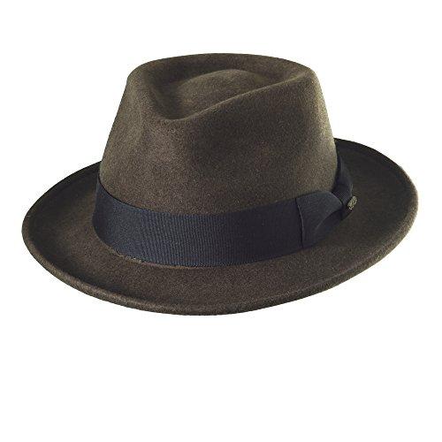 - Scala Classico Men's Crushable Water Repelant Wool Felt Fedora Hat (M, Olive)
