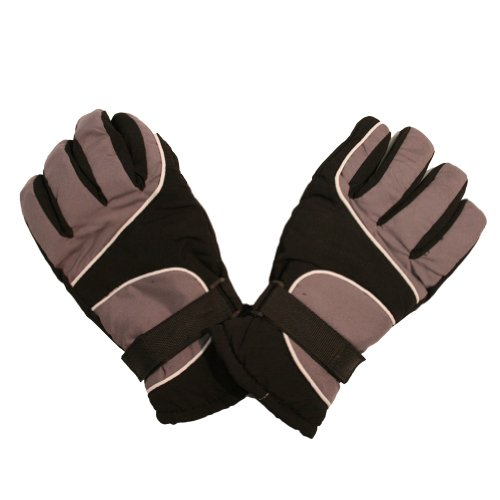 Ski Gloves with Palm Grip and Knitted Cuff