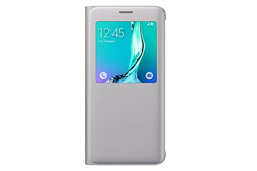 Samsung S-View Cover für Samsung Galaxy S6 Edge Plus, silber