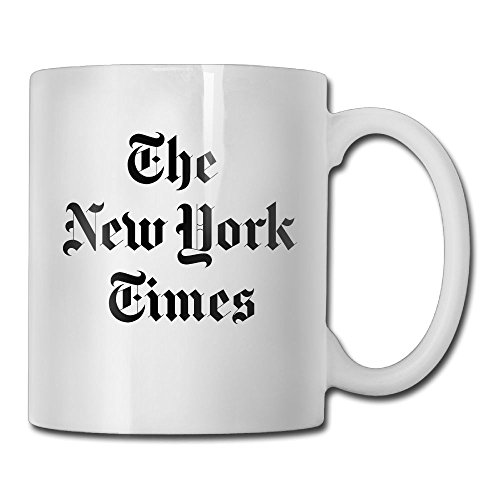 Jingclor New York Times Logo 11 Ounces Coffee Mug Novelty Ceramic White Tea Cup Coffee/Tea Cup Gift For Father's Day Or Friend,Mother,Birthday