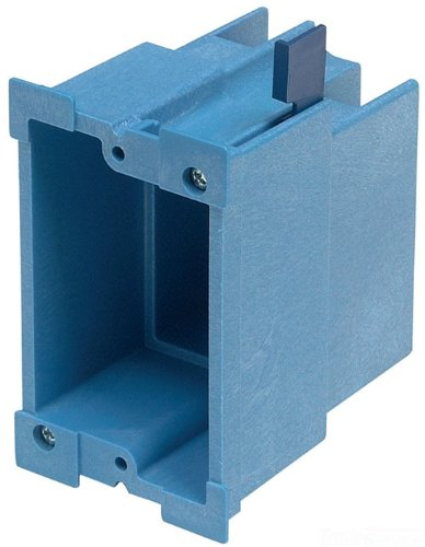 Carlon BH118R Outlet Box, Old Work, 1 Gang, 3-7/8-Inch Length by 2-3/8-Inch Width by 3-5/8-Inch Depth, - Carlon Gang Box