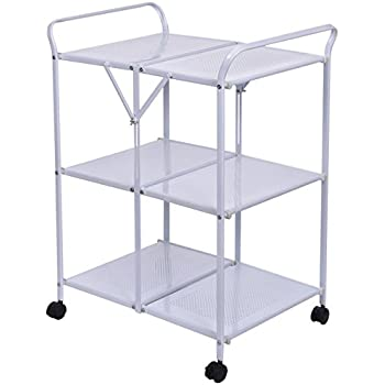 Indoor or outdoor folding metal rolling for Collapsible kitchen cart