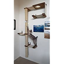 CatastrophiCreations Skyscraper - Cat Hammock & Climbing Activity Center - Handcrafted wall-mounted cat tree