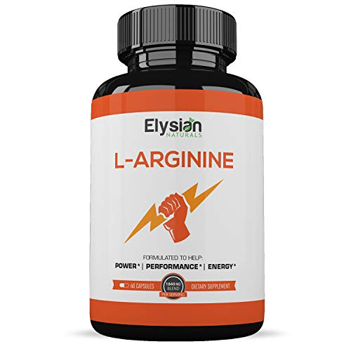 Extra Strength L Arginine - Nitric Oxide Supplement - Premium Muscle Building - Vascularity & Energy - Essential Amino Acids to Train Harder & Longer - 120 Capsules