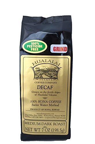 Hualalai Kona Coffee - Hualalai Estate Coffee 100% Kona Coffee DECAF 7 oz Ground