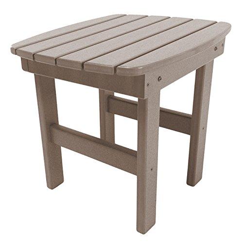 Style Footrest Adirondack (Pawley's Island Adirondack Side Table in a Weatherwood Finish)