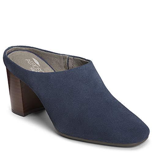 Aerosoles Women's CAST Stone Sneaker, Dark Blue Suede, 8 M US (Mules Suede Aerosoles)