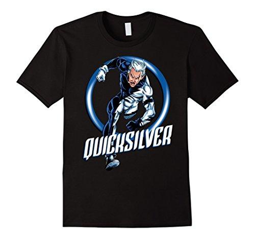 Mens Marvel X-Men Quicksilver The Dart Ring Dash Graphic T-Shirt Medium Black